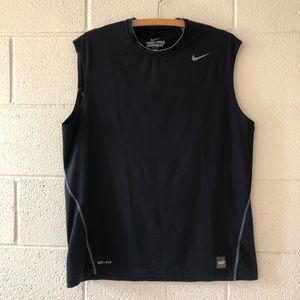 NIKE Pro Combat Black Dri Fit Muscle Tee XL